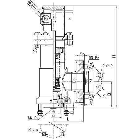 Конструкция клапана Pilzno ZBKp