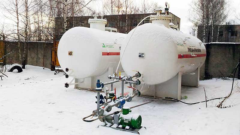 Поставка резервуара СУГ в Кострому