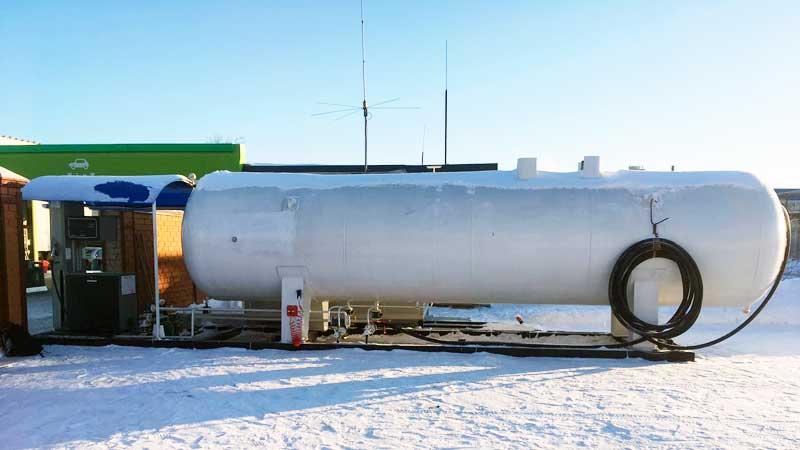 Модульная АГЗС МВ-20 с колонкой Gilbarko