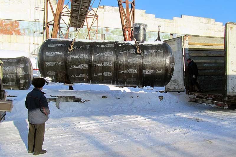 Резервуар СУГ подземный двустенный в изоляции