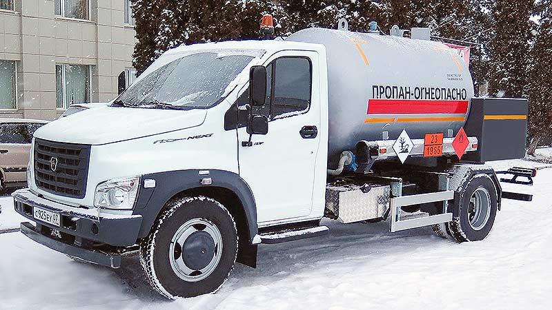 Автоцистерна СУГ АЦТ-6 на шасси Газон NEXT