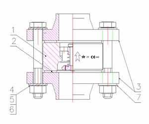 Клапан скоростной межфланцевый