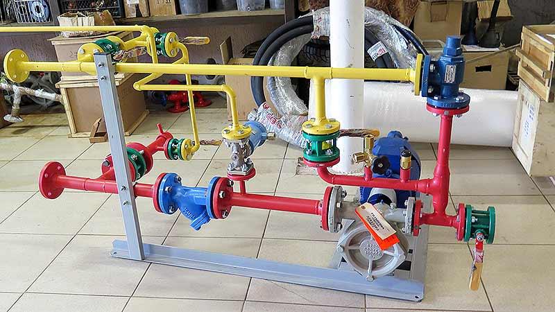Насосны блок АГЗС для двустенного резервуара