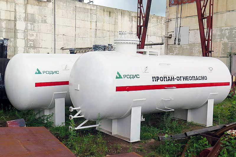 Резервуар СУГ наземный одностенный