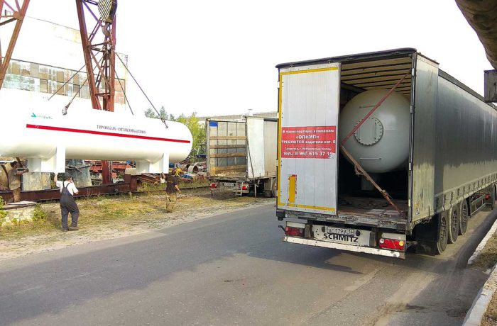 Отгрузка модуля МВ-20 и резервуара СУГ